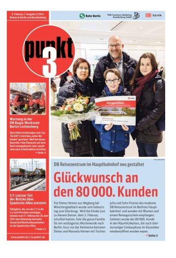 Glückwunsch an den 80000. Kunden - S-Bahn Berlin GmbH