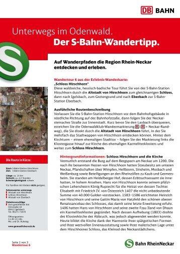 6. Schloss Hirschhorn - S-Bahn RheinNeckar