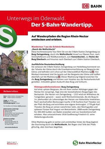 7. Durch die Wolfschlucht - S-Bahn RheinNeckar