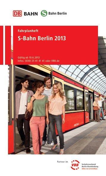 Fahrplanheft Stand 09.06.2013 - S-Bahn Berlin GmbH