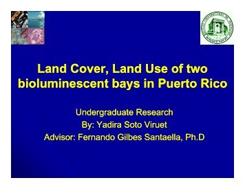 Land Cover, Land Use of two bioluminescent bays in Puerto Rico
