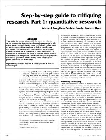 a critique of the qualitative research Our qualitative research critique services are covered by our guarantees we know the difficulties associated with providing qualitative research critique which is why you are going to have the opportunity to work with the best-qualified experts in the field of your research.
