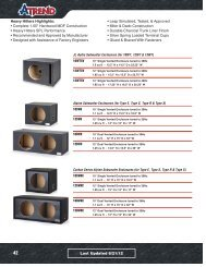 JL Audio Subwoofer Enclosures (for 10W7, 12W7 & 13W7)