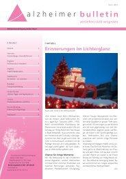 Erinnerungen im Lichterglanz - Alzheimer-Bulletin 2/2012