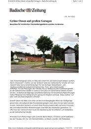 Grüne Oasen auf großen Garagen - Sparkassen Immobilien Freiburg