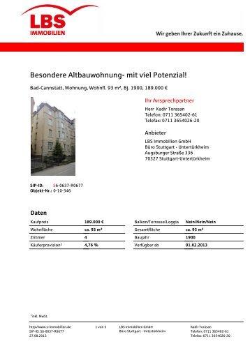 Print-Exposé (PDF) - Immobilien und Wohnungen der Sparkassen