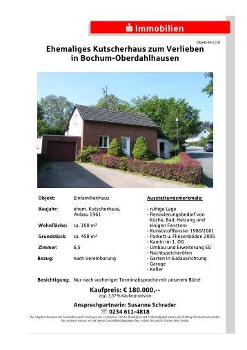 Ehemaliges Kutscherhaus zum Verlieben in Bochum-Oberdahlhausen