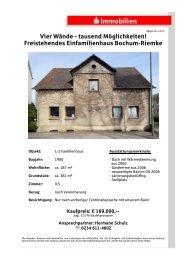 Freistehendes Einfamilienhaus Bochum-Riemke
