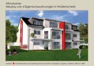 All inclusive! Neubau von 6 Eigentumswohnungen in Wattenscheid
