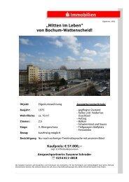 """""""Mitten im Leben"""" von Bochum-Wattenscheid! - S-Immobiliendienst.de"""