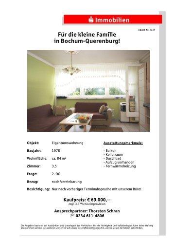 Für die kleine Familie in Bochum-Querenburg! - S-Immobiliendienst.de