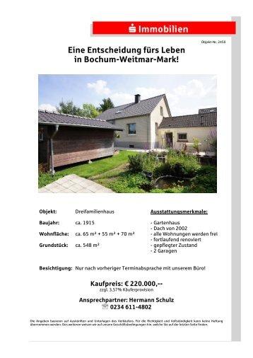 Eine Entscheidung fürs Leben in Bochum-Weitmar-Mark!