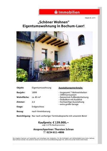 Eigentumswohnung in Bochum-Laer! - S-Immobiliendienst.de