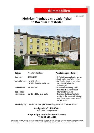 Mehrfamilienhaus mit Ladenlokal in Bochum-Hofstede!