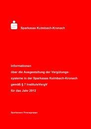 Institutsvergütungsverordnung Bericht 2012 - Sparkasse Kulmbach ...