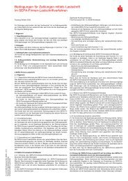 Bedingungen für Zahlungen mittels Lastschrift im SEPA-Firmen
