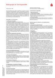 Bedingungen für Termingeschäfte - Sparkasse Kulmbach-Kronach