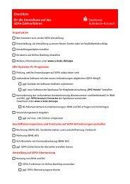 Checkliste für Vereine - Sparkasse Kulmbach-Kronach