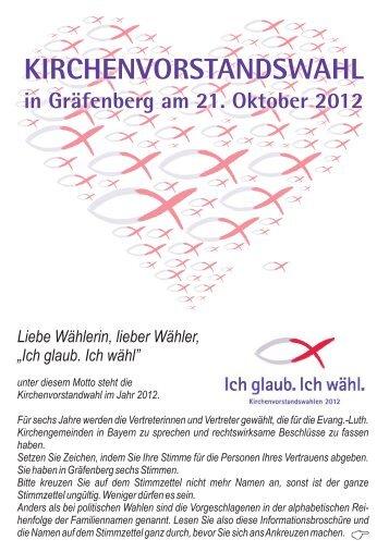 Liebe Wählerin, lieber Wähler - Dekanat Gräfenberg