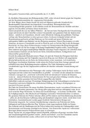 Offener Brief Sehr geehrte Verantwortliche und Einsatzkräfte des ...