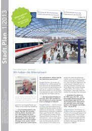 Stadt.Plan 1|2013: Alternativen zu S21 - Stuttgart Ökologisch Sozial