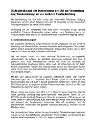 Maßnahmekatalog der Bundesleitung des SRB zur Vorbereitung ...