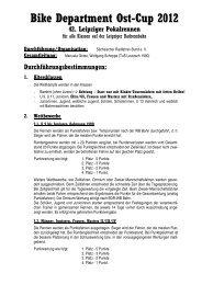 Bike Department Ost-Cup 2012 - Sächsischer Radfahrer-Bund eV