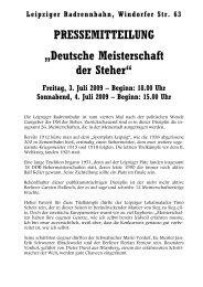 PRESSEMITTEILUNG - Sächsischer Radfahrer-Bund eV