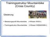 Belastungsprofil & Trainingsstruktur MTB