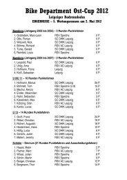 Bike Department Ost-Cup 2012 Leipziger Radrennbahn ...