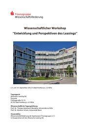 Entwicklung und Perspektiven des Leasings - Sparkassen ...