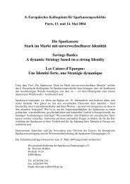 Die Sparkassen - Sparkassen-Finanzgruppe eV