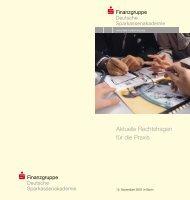 52052 Infotagung Recht - Sparkassen-Finanzgruppe eV