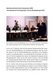 Bericht Sparkassenhistorisches Symposium 2002 für Homepage