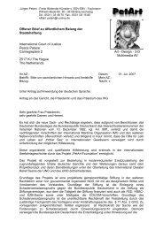 Internationalen Gerichtshof IHG - PetArt-Foundation