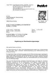 OLG Braunschweig - PetArt-Foundation
