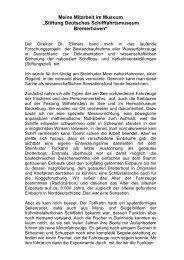 Für die Stiftung deutsches Schiffahrtsmuseum Bremerhaven zur ...