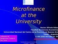 Las microcréditos en las Universidades Argentinas