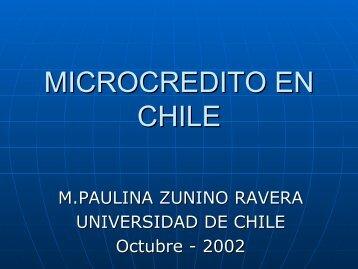 MICROCREDITO EN CHILE