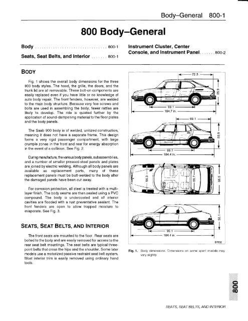8 Body Saab 900 Convertible 86 94