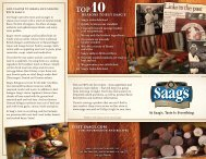 Links to the Past - Company Brochure - Saags Specialty Meats and ...