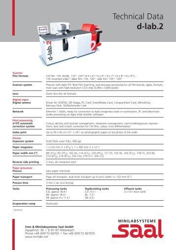 Technical Data d-lab.2 - Saal Digital Fotoservice GmbH