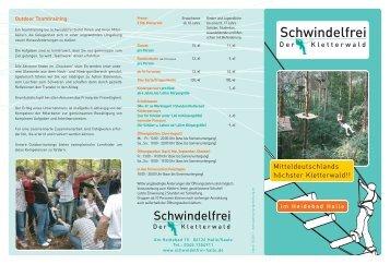 Flyer Kletterwald Schwindelfrei [5567 KB]