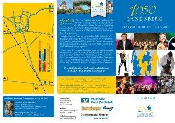 Das Festprogramm finden Sie hier - Förderverein Region Halle ...