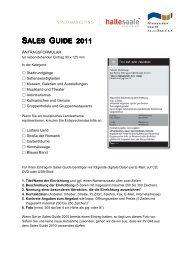Antragsformular Sales Guide 2011 - Förderverein Region Halle ...
