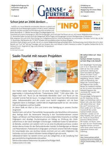ST-INFO 10/2005 - Förderverein Region Halle (Saale)