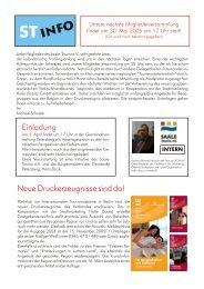 ST-INFO 03/2005 [678 KB] - Förderverein Region Halle (Saale)