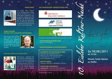 Programm Eisleber KulTour-Nacht