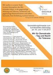 Flyer - Saalfeld