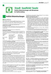 Amtsblatt Nummer 2007/08 - Saalfeld